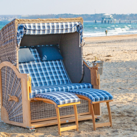 2,5-Sitzer Strandkorb ohne Bullauge